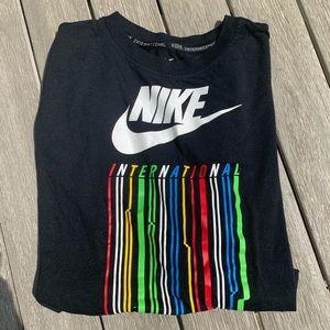 Nike International Black Crop Tee